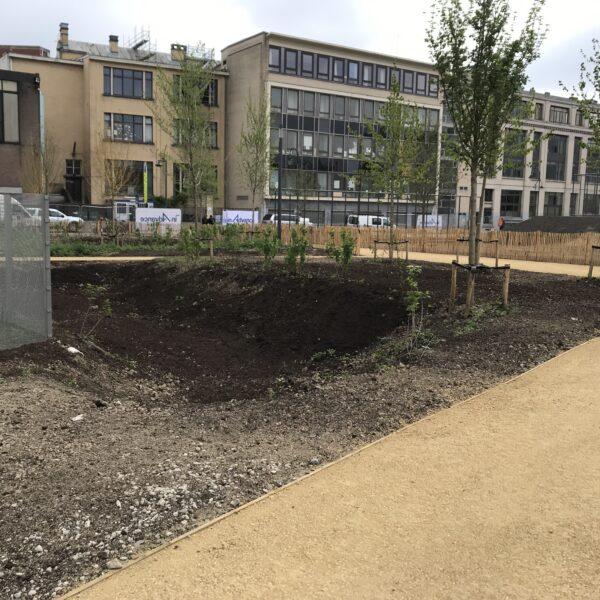 Aanleg park in centrum Brussel