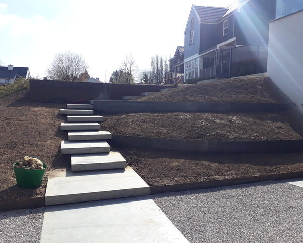 Aanleg privé tuin